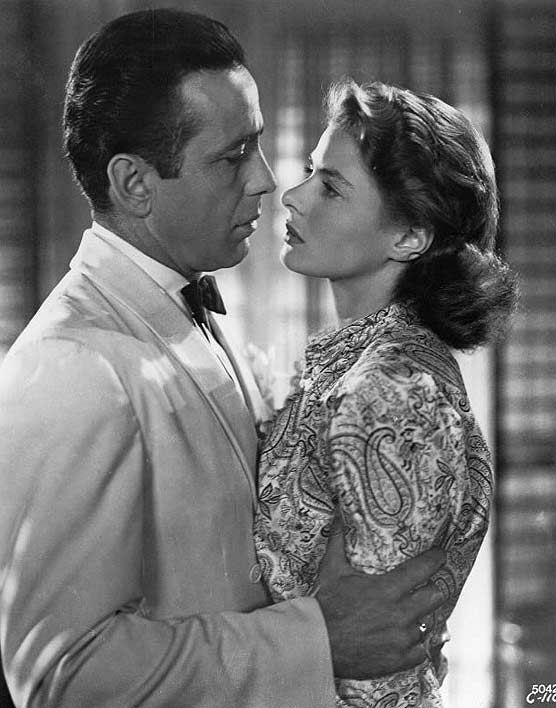 Humphrey Bogart e Ingrid Bergman en 'Casablanca', de Michael Curtiz.