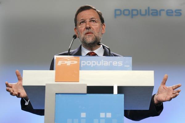 Mariano Rajoy y su programa electoral