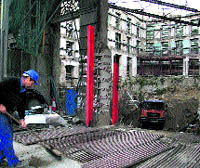 Revisan los hallazgos arqueológicos en unas obras en la Alameda
