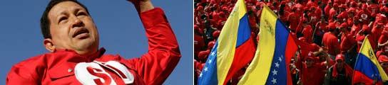 Chávez, durante el discurso de cierre de campaña