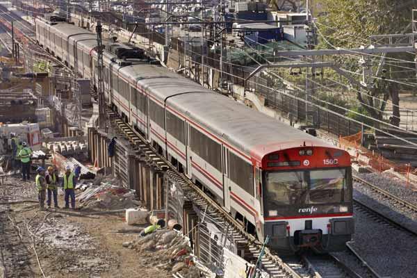 Reestablecimiento en los trenes de Barcelona