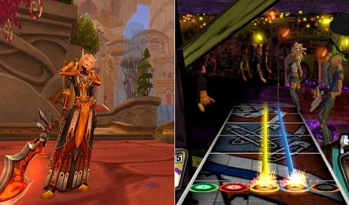 Warcraft y Guitar Hero