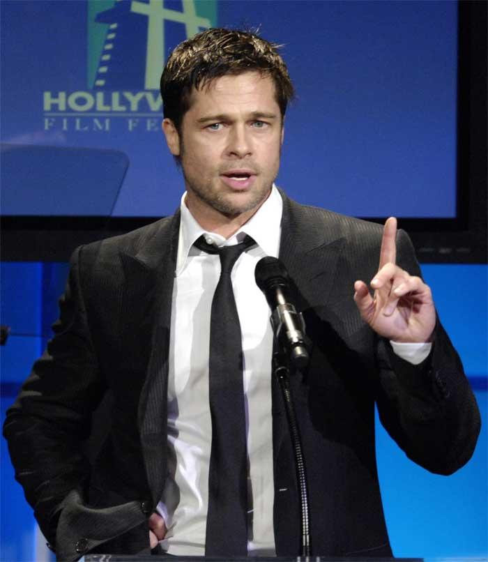 El actor estadounidense Brad Pitt.