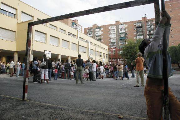 Un colegio de Madrid, en una imagen de archivo.