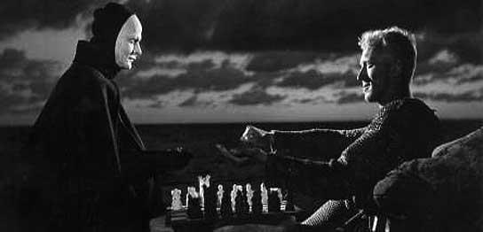 Bengt Ekerot y Max von Sydow en 'El séptimo sello', de Bergman.
