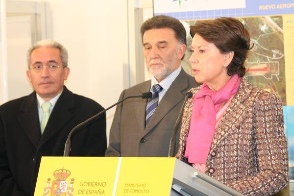 Ministra de Fomento, Magdalena Alvarez en Burgos