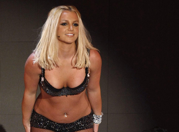 Britney Spears, durante una actuación