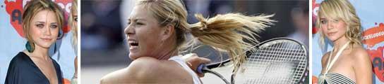 Maria Sharapova y las gemelas Olsen