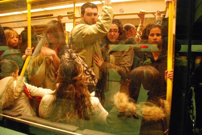Así fue la huelga del metro en Valencia en diciembre.