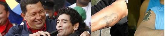 Maradona y sus tatuajes