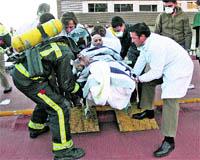 215 evacuats per un foc a Can Ruti