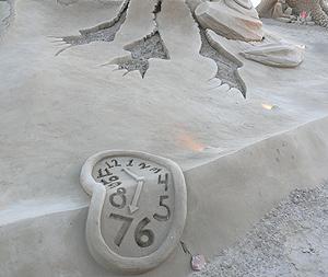 Reloj blando de arena del belén de Vila-seca