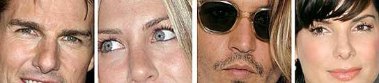 Tom Cruise, Jennifer Aniston, Johnny Deep y Sandra Bullock