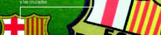 El escudo del Barcelona retocado