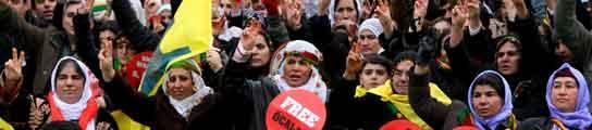 Kurdos contra el ejército turco