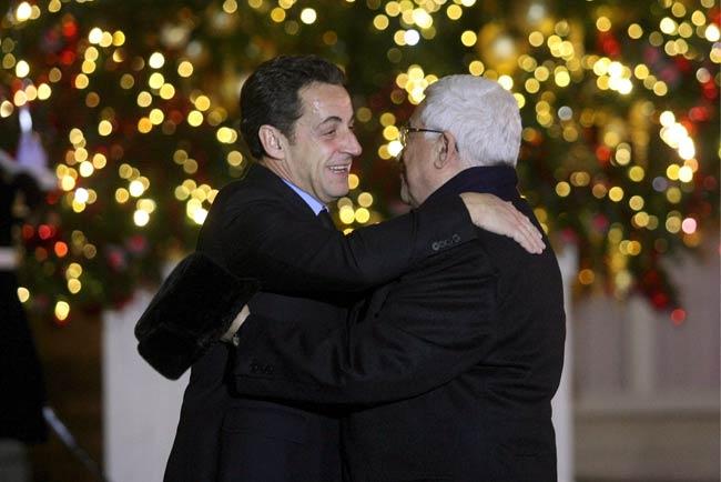 Abás y Sarkozy
