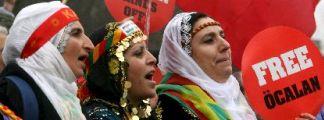 Manifestación a favor de los kurdos