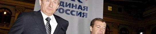 Vladimir Putin y Dimitri Medvedev