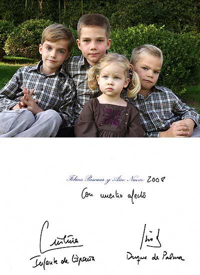 Felicitación de Navidad de la familia Urdangarín-Borbón.