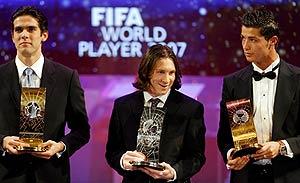 Kaká, Messi y Cristiano Ronaldo