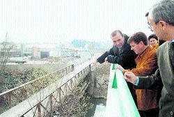 Inauguran el puente de Láchar