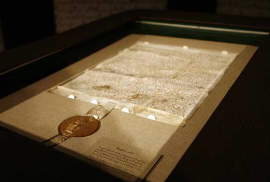 Una Carta Magna del siglo XIII