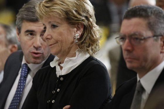 Acebes, Aguirre y Gallardón