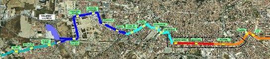 El tramo licitado, en azul oscuro, discurre entre el Cerrillo y Villarejo.
