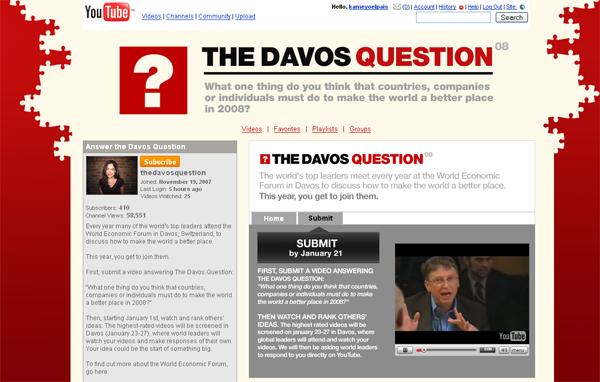 Internautas Davos gracias a YouTube