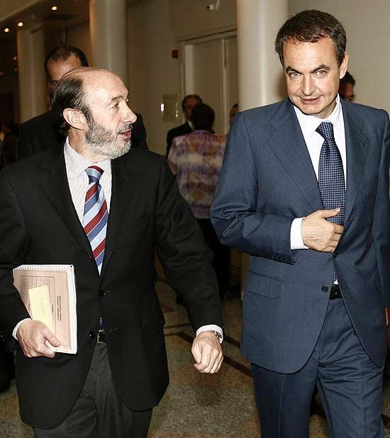 Rubalcaba y Zapatero