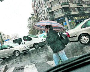 Madrid se atasca con la lluvia
