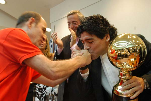 Diego Armando Maradona, premiado