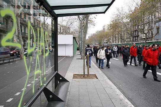 Huelga autobús Barcelona