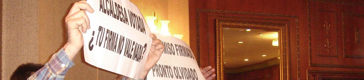 Funcionarios contra presupuesto 2008