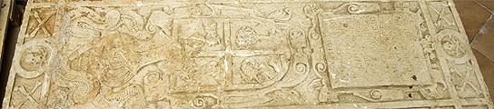 Losa funeraria del siglo XVII