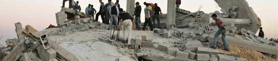 Edificio bombardeado en Gaza (Palestina).