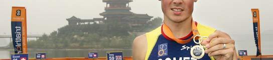 Noya, con su medalla de ganador de la Copa del Mundo 2007