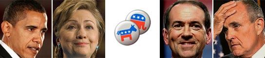 Candidatos demócratas y republicanos