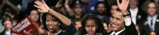 Obama con su familia