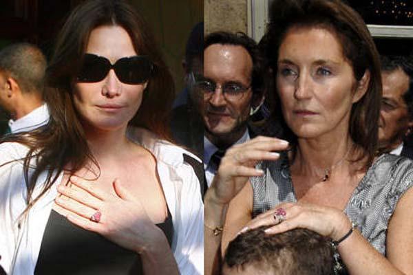 Las sortijas de Carla Bruni y Cecilia Sarkozy