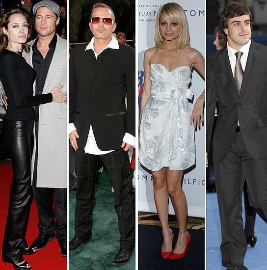 Angelina Jolie y Brad Pitt, Miguel Bosé, Nicole Richie y Fernando Alonso