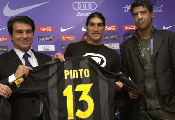 Laporta, Pinto y Rijkaard