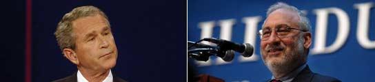 George Bush y Joseph Stiglitz