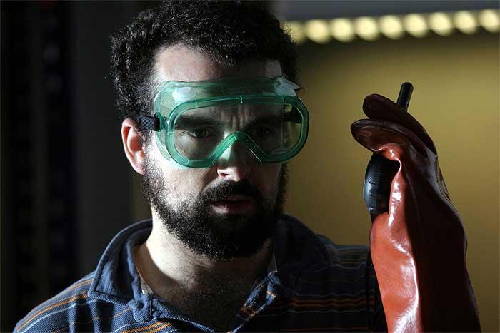 Imagen de 'Los cronocrímenes', dirigida por Nacho Vigalondo.