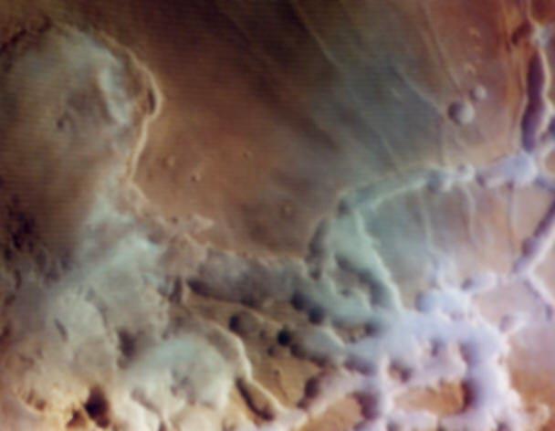 Un conjunto de nubes marcianas