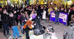 Un centenar de personas se concentran en el Obelisco a favor del aborto