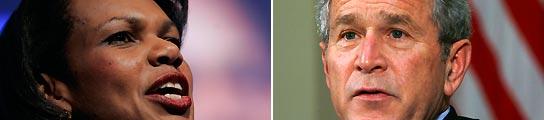 Condoleezza Rice y George W. Bush