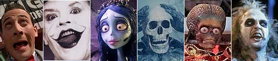 Diversos personajes de las películas de Tim Burton.