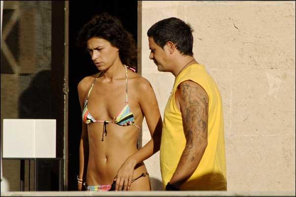 Alejandro Sanz y Raquel Pereda