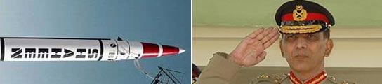 Ashfaq Pervez Kiyani y el misil